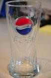 Pepsi Cola Relief Glas / Gläser, rot/blau 0,3l