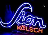 Sion Kölsch Bier Neonleuchte, Leuchtreklame, Leuchtwerbung 2 farbig