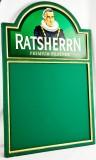 Ratsherrn Pilsener Bier, Kreidetafel, Schreibtafel Aufsteller, Brauerei, Schilder