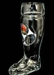 Paulaner Glas / Gläser, Bierglas / Biergläser, WM Stiefel 0,5l, limitierte Auflage