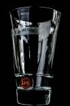 Jameson Whiskeyglas, Glas / Gläser, Longdrinkglas rot Relief mit Bodenprägung