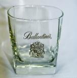 Ballantines Glas / Gläser, Whiskyglas Scotch Tasting Tumbler, eckige Ausführung
