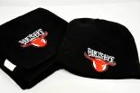 Kraft Bulls-Eye Grill Mütze und Schal mit Logo, schwarz, 100% Acryl