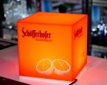 Schöfferhofer Bier Leuchtreklame, Grapefruit LED Cube, Würfel 16 x 15 x 15cm