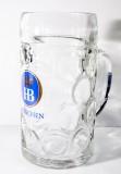 Hofbräu Bier Glas / Gläser, Bierkrug, Bierglas, Bräuhaus, Maßkrug, Seidel, 1Liter