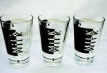 Likör / Licor 43 Glas / Gläser, Milchglas-Set, Latte Macchiato,Black 3 Stück