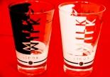 Likör / Licor 43 Glas / Gläser Milchglas-Set, Latte Macchiato,Mini 2 Stück