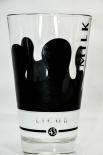 Likör / Licor 43 Glas / Gläser, Milchglas, schwarz satiniert, Latte Macchiato,Tropfen