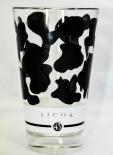 Likör 43 Glas / Gläser - Milchglas, schwarz satiniert, Latte Macchiato,Flecken