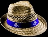 Corona Extra Strohhut, Hut, Partyhut, Strandhut mit Blauband