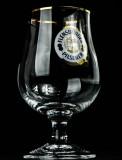 Flensburger Glas / Gläser, Bierglas, Schwenker, Kugelglas Lüttich Goldrand 0,3l
