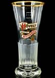 Hövels Glas / Gläser, Bierglas / Biergläser, Goldrand, Victoria Becher, 0,2l