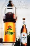 Lübzer Bier, Flaschenöffner, Kapselheber Leuchtturm
