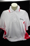 König Pilsener Polo Shirt, weiß/rot, Gr.XL/XXL mit Logo