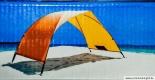Skincom Strandmuschel Solartent Easy UV 60, Farbe: rot