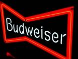 Budweiser Leuchtreklame, Neonleuchte, Leuchtwerbung  Fliege USA 77cm