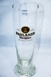Paulaner Glas, Gläser, Relief Bierglas / Biergläser, Hefeweizenglas 0,3L, gold