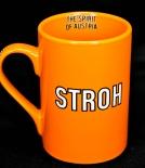 Stroh Rum Kaffeebecher, Kaffetasse, Becher, Tasse orange