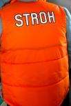 Stroh Rum Stepp-Weste, Jacke Größe M, orange, Neu