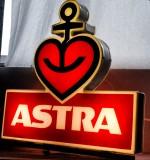 Astra Bier, XXL 3 fach Neon Leuchtreklame, Leuchtwerbung Ankerherz