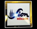 Sion Kölsch Emaile Schild, Werbeschild, Reklameschild