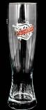 Duckstein Bier Glas / Gläser, Bierglas, Weizenbier Glas 0,5l mit Silberrand