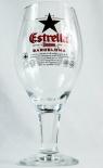 Estrella Damm Glas / Gläser, Bierglas, Cervesa, Cerveza, Pokalglas 0,33l