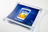 Capri Sonne Plexiglas Zahlteller, Geldschale, Geldteller gewölbt