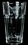 Smirnoff Vodka Glas / Gläser, Harley Cocktailglas, weißes Emblem, 14 x 7cm