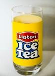 Lipton Ice Tee Trinkglas, Iceteeglas, Saftglas gelb, Rastal