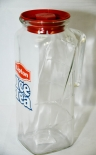 Lipton Ice Tea Glas Karaffe, Kanne, Krug 1 l, 13,4 x 8,5cm