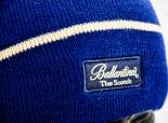 Ballantines Whisky Strickmütze, Wintermütze, Mütze blau/beige
