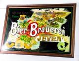 Jever Bier Werbespiegel, Barspiegel, Spiegel, Echtholzrahmen Jever Brauerei Rarität!