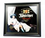 Köstritzer Bier Werbespiegel, Spiegel, Barspiegel im Holzrahmen