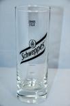 Schweppes Vodka Lemon Glas / Gläser, Longdrinkglas, 0,2l, schwarzes Logo