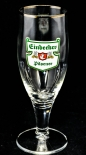 Einbecker Bier Glas / Gläser, Bierglas Pokal 0,2 l, Silberrand, Sahm