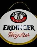 Erdinger Weißbier XXL Zapfhahnschild, Barschild, Reklameschild, Alu