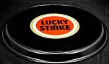 Lucky Strike Serviertablett, Tablett, Servierhilfe rund, schwarz, 36cm