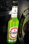 Becks Bier Brauerei Leuchtreklame Flasche, Grün