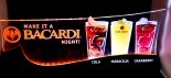 Bacardi Rum, LED Leuchtreklame auf Sockel, 56 x 24 x 6cm Neu