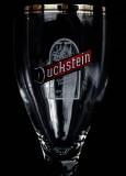 Duckstein Bier Brauerei Pokal Glas Harzer Schild weiß 0,3l