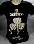 Guinness Beer Brauerei, Damen T-Shirt, schwarz, Kleeblatt Gr. M