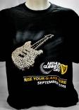 Guinness Beer Brauerei, Damen T-Shirt, schwarz, Gitarrensymbol Gr. L
