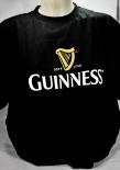 Guinness Beer Brauerei, Herren T-Shirt, schwarz, Glassymbol Gr. XL