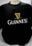 Guinness Beer Brauerei, Herren T-Shirt, schwarz, Glassymbol Gr. XXL
