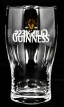Guinness Beer Glas / Gläser, Bierglas mit Doppel Logo 0,2l
