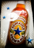 Newcastle Brown Ale, Beer, Bier Blechschild, Werbeschild, Star