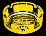 Camel Zigaretten Aschenbecher, transparent/gelb