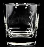 Ballantines Whiskey, Mini-Tumbler, eckig, Schrift weiß, senkrecht