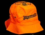 Jägermeister Likör, Mütze, Schlapphut, Anglerhut, orange